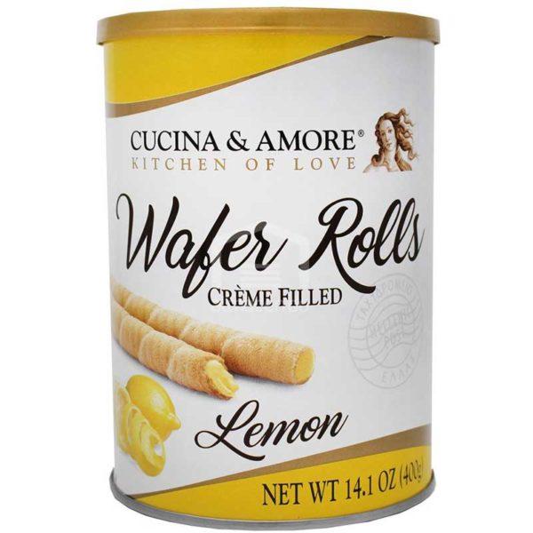 Barquillas Cucina & Amore Rellenas de Limón, 400 g