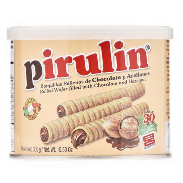 Barquillas Pirulin Rellenas de Chocolate y Avellanas, 300 g