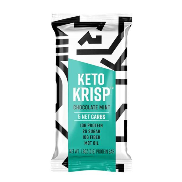 Barras Keto Krisp Chocolate con Menta, 1.80 oz