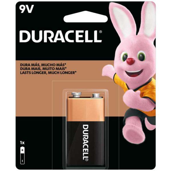 Batería Alcalinas Duracell 9v, 1 ud
