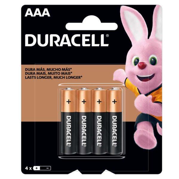Batería Alcalinas Duracell AAA, 4 uds