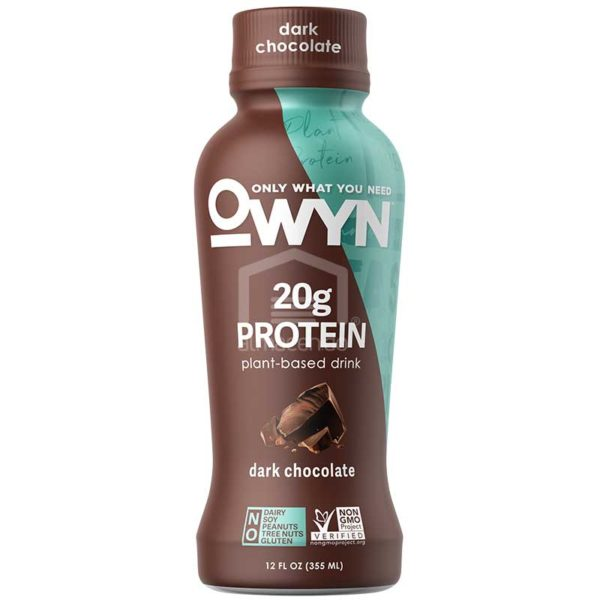 Batido Nutricional Vegano Owyn Chocolate Negro, 12 oz
