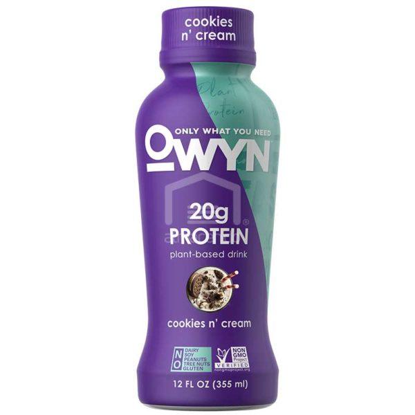 Batido Nutricional Vegano Owyn Galleta y Crema, 12 oz