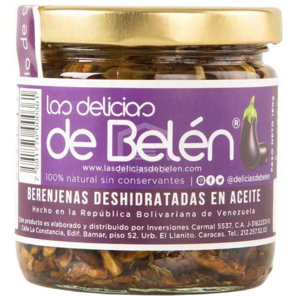 Berenjenas Deshidratadas en Aceite Las Delicias de Belén, 180 g