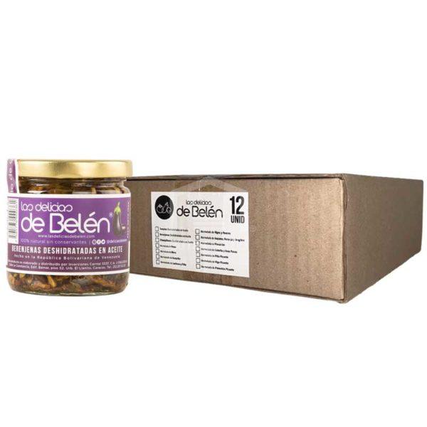 Berenjenas Deshidratadas en Aceite Las Delicias de Belén, Caja (12 x 180 g)
