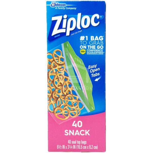 Bolsas Ziploc de Almacenamiento con Cierre Snack, (40 uds)