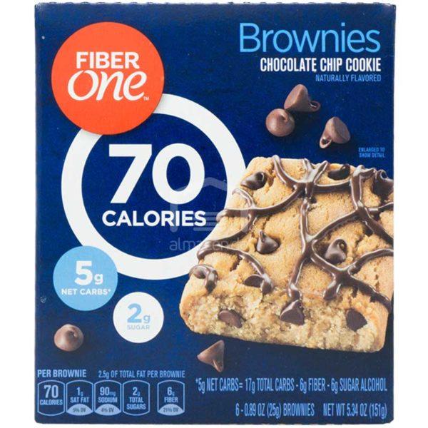 Brownies Chips de Chocolate Fiber One, 5.34oz (6 uds)