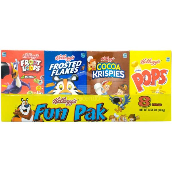 Cereal Kellogg's Paquete Divertido, 243g (8 uds)