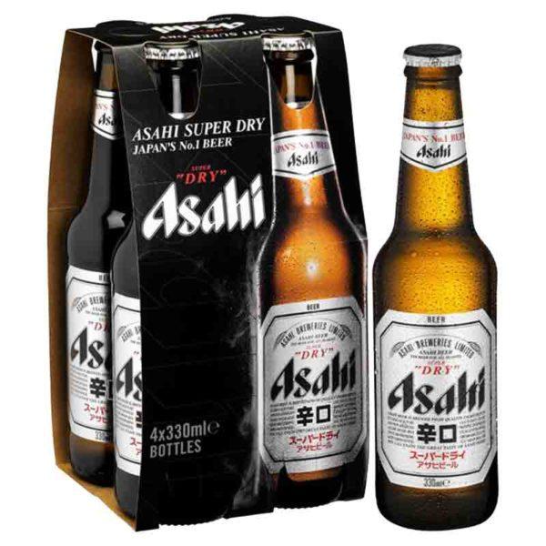 Cerveza Asahi Super Dry, 11.2 oz (4 Pack)