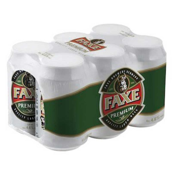 Cerveza Faxe Premium, 11.2 oz Lata (6 pack)