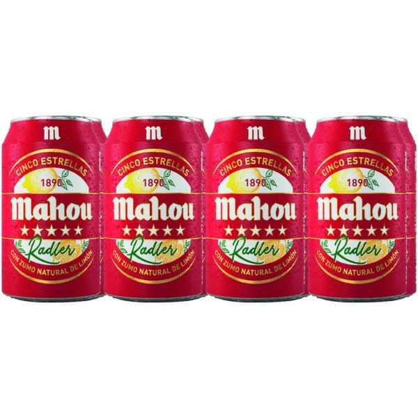 Cerveza Mahou Cinco Estrellas Radler Lata, 11.2 oz (8 Pack)