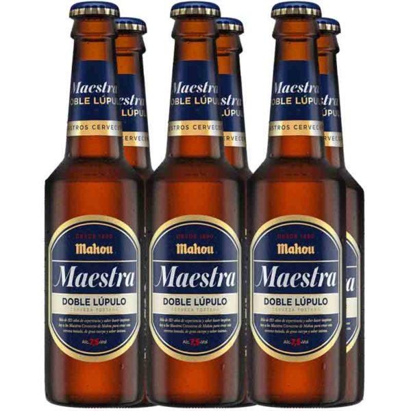 Cerveza Mahou Maestra Doble Lúpulo, 11.2 oz (6 Pack)