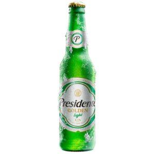 Cerveza Presidente Golden Light, 12 oz (6 pack)