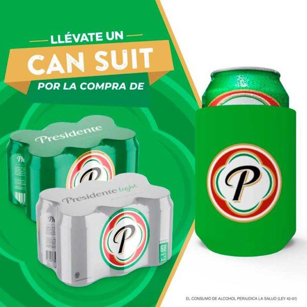 Cerveza Presidente Lata, 8 oz (12 uds)