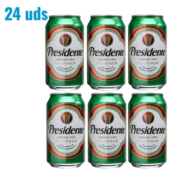 Cerveza Presidente Lata, 8 oz Caja (24 uds)