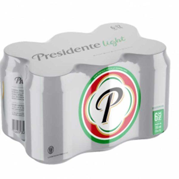 Cerveza Presidente Light Lata, 12 oz