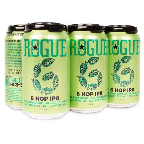 Cerveza Rogue 6 Hop Ipa Lata, 12 oz