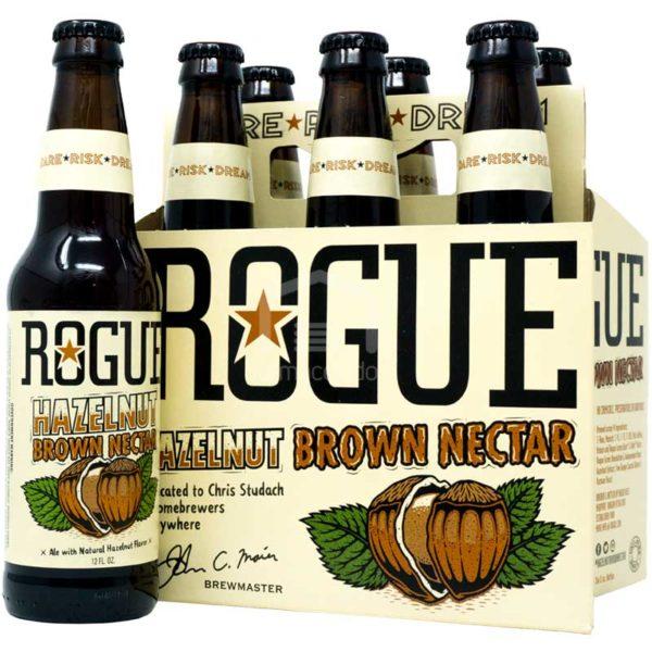 Cerveza Rogue Hazelnut Brown Nectar, 12 oz