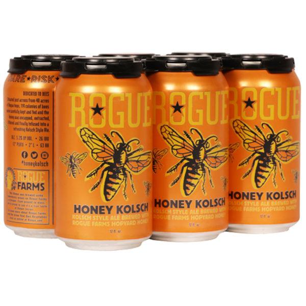 Cerveza Rogue Honey Beer, 12 oz Lata (6 Pack)