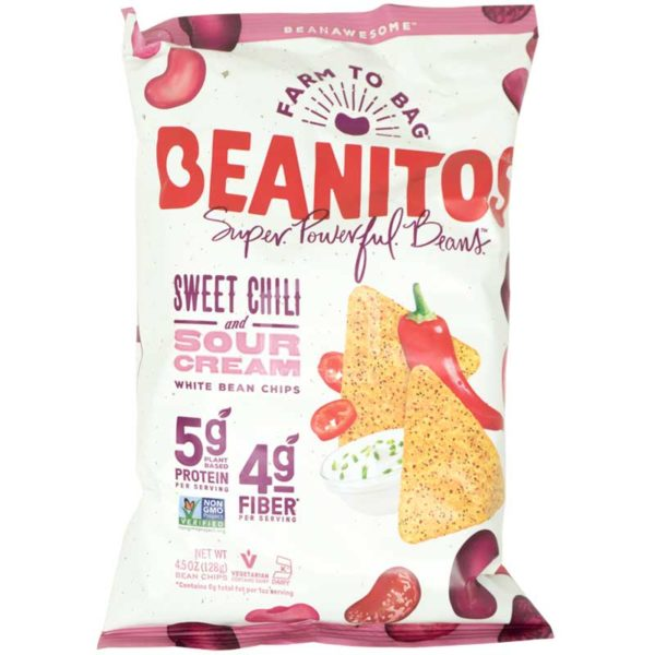 Chips Beanitos Frijoles Blancos Chile Dulce y Crema Agria, 5oz