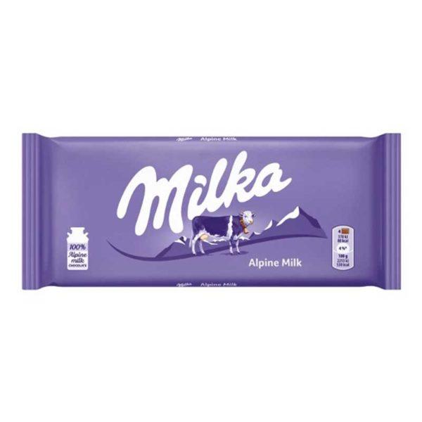 Chocolate Milka Alpine, 100 g