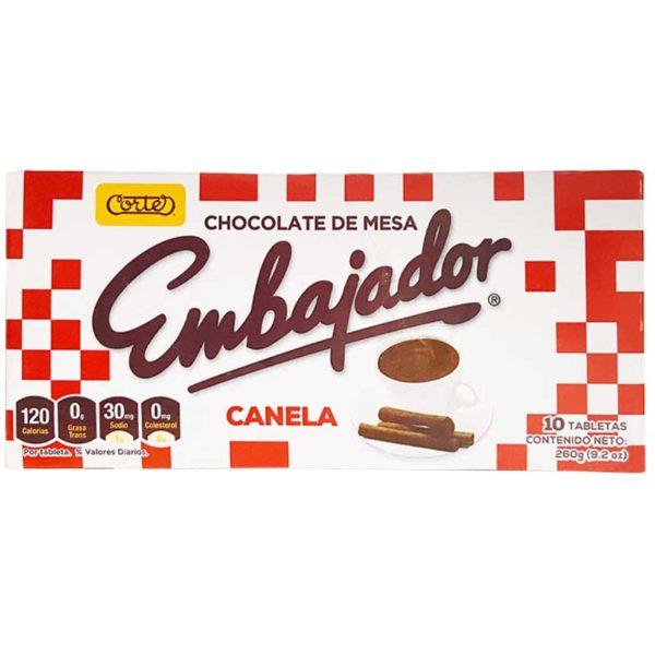 Chocolate de Mesa Embajador con Canela (10 uds)