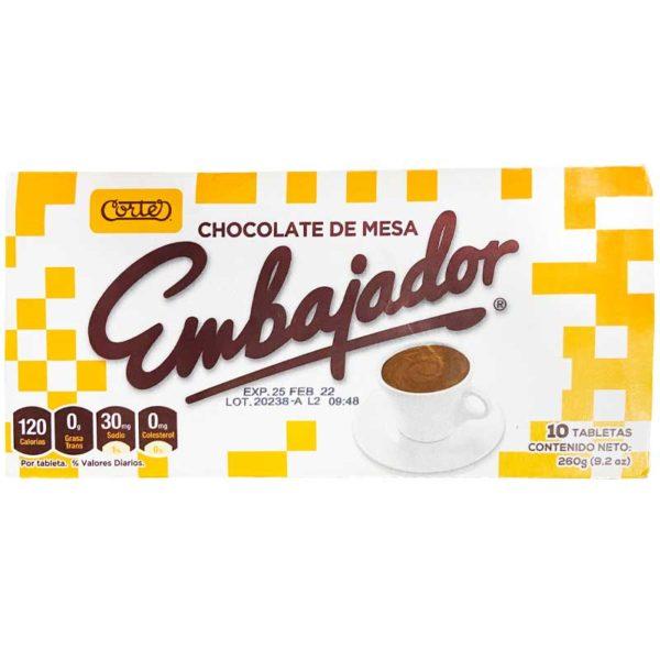 Chocolate de Mesa Embajador (10 uds)