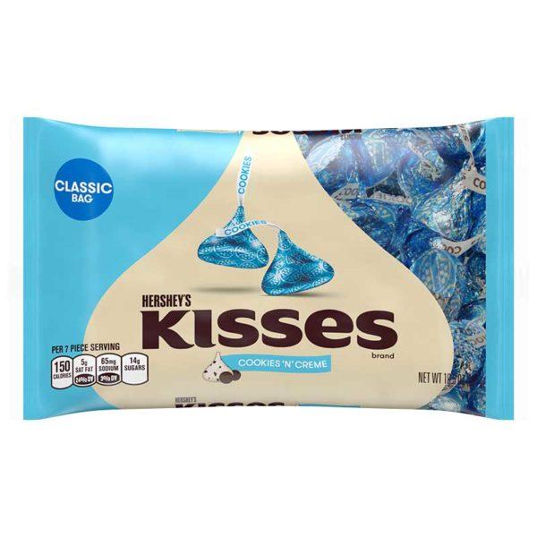 Chocolates Hershey's Kisses Galletas y Crema, 10.5 oz
