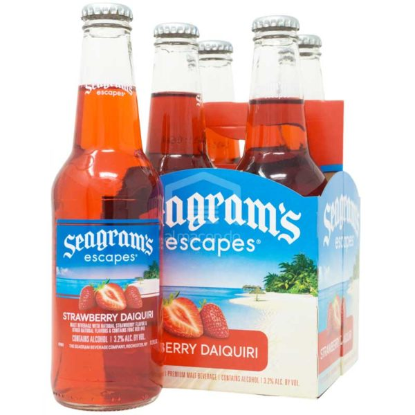 Cóctel Seagram's Escapes Strawberry Daiquiri, 11.2 oz (4 pack)
