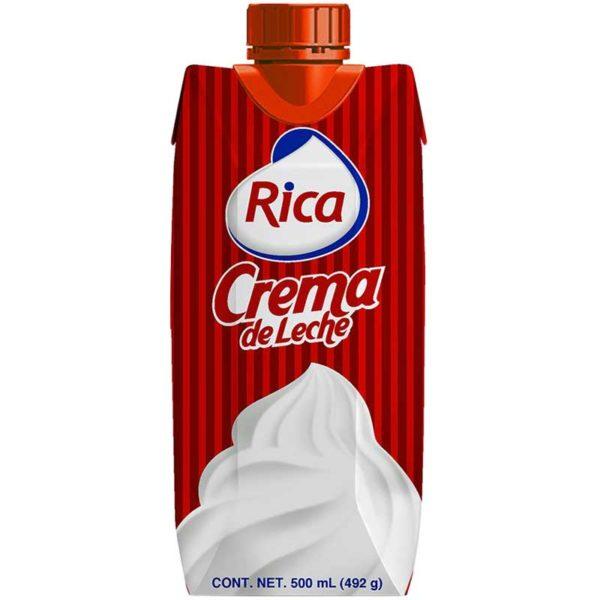 Crema de Leche Rica, 500 ml