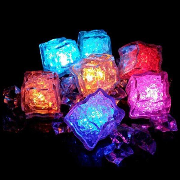 Cubo de Hielo LED (12 uds)