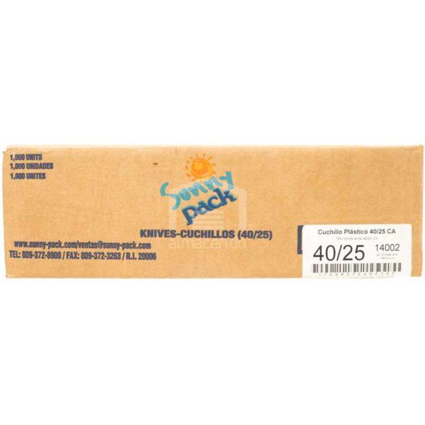 Cuchillos Blancos Desechables Plásticos Plastifar, Caja (40 × 25 uds)