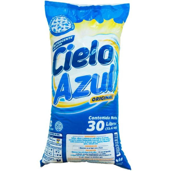 Detergente en Polvo Cielo Azul, 30 lb