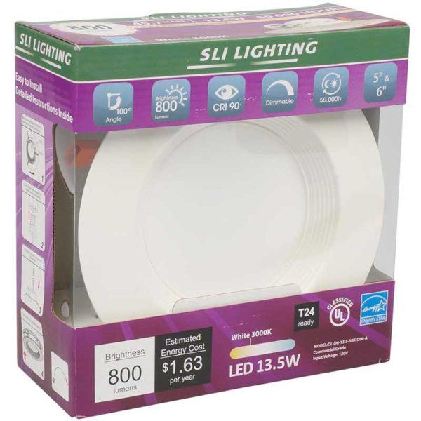 "Downlight 6"" LED 13.5 W 3000 K"