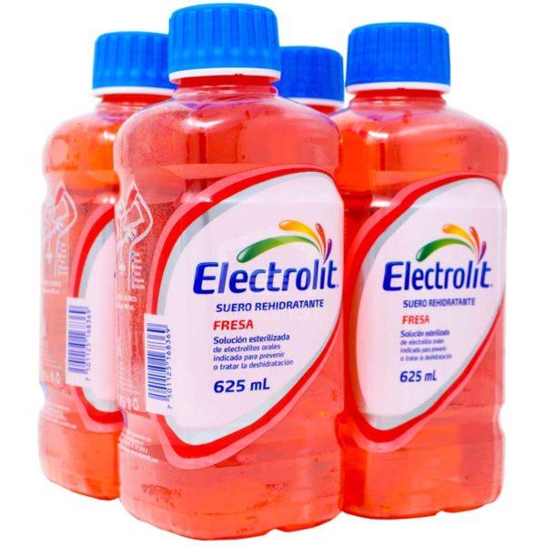 Electrolit Suero Rehidratante Sabor Fresa, 625 ml (4 pack)
