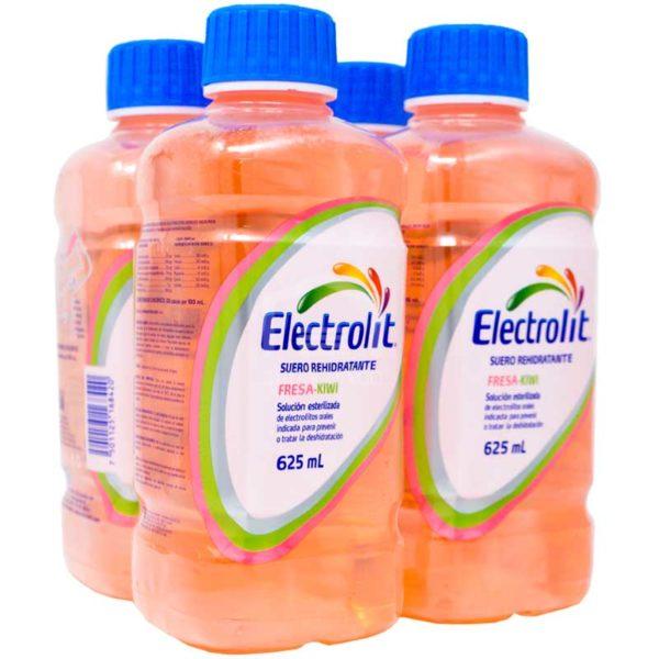 Electrolit Suero Rehidratante Sabor Fresa-Kiwi, 625 ml (4 pack)