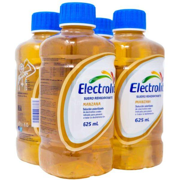 Electrolit Suero Rehidratante Sabor Manzana, 625 ml (4 pack)