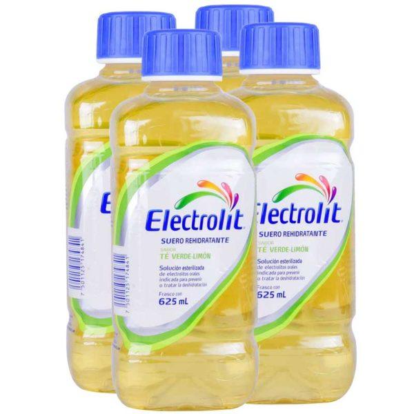 Electrolit Suero Rehidratante Sabor Té Verde Limón, 625 ml (4 pack)
