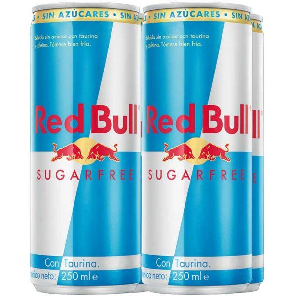 Energizante Red Bull Sin Azúcar, 250 ml (4 pack)