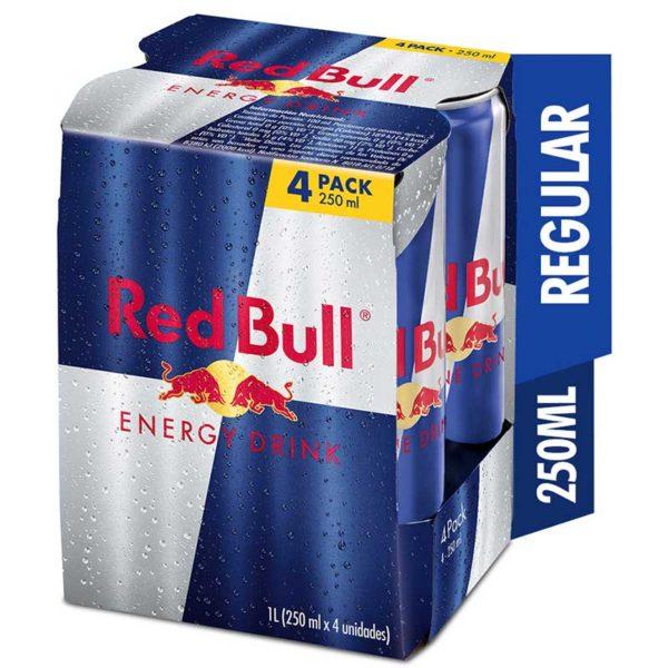 Energizante Red Bull, 250 ml (4 pack)