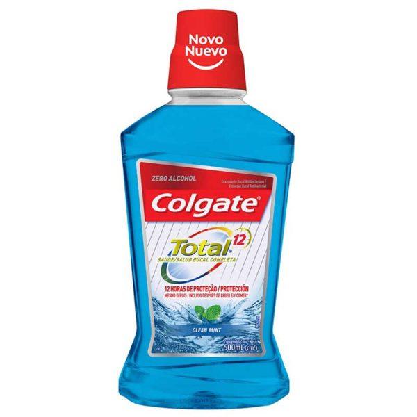 Enjuague Bucal Colgate Total 12 Clean Mint, 500 ml