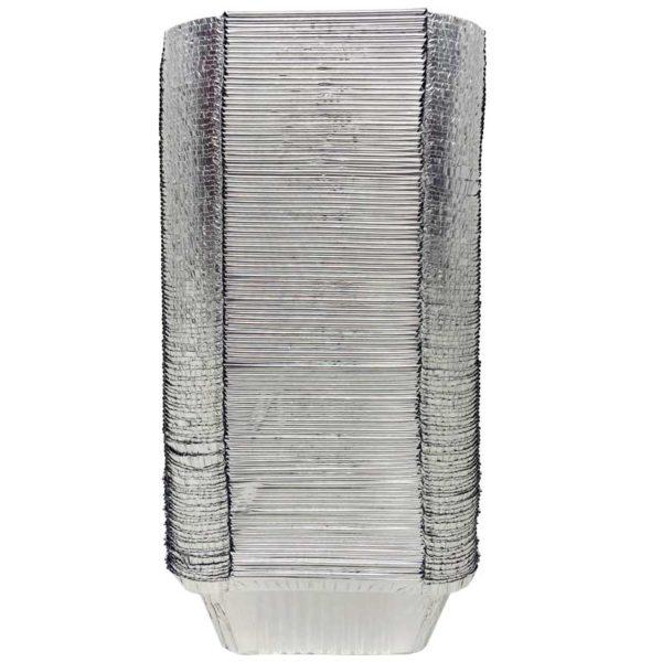 Envase Aluminio 17015 Rectangular Plastifar, 1 lb (125 uds)
