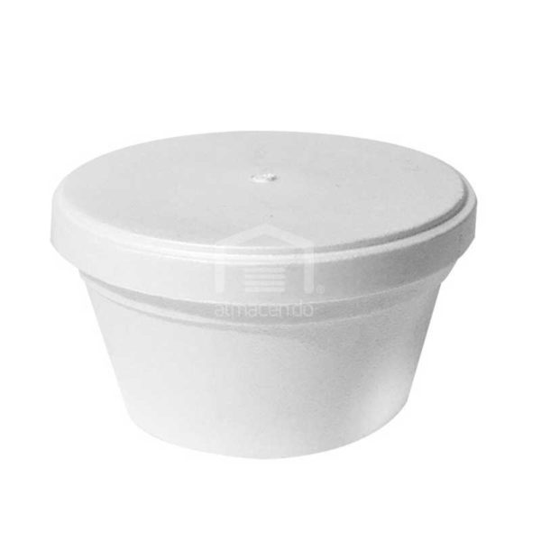 Envase Foam con Tapa Plastifar, 12 oz (8 x 20 uds)