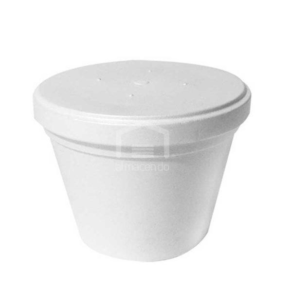 Envase Foam con Tapa Plastifar, 16oz (8 x 20 uds)