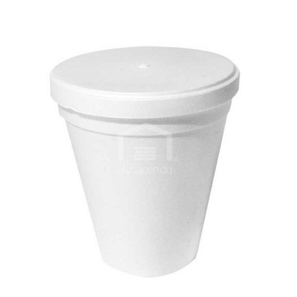 Envase Foam con Tapa Plastifar, 24oz (8 x 20 uds)