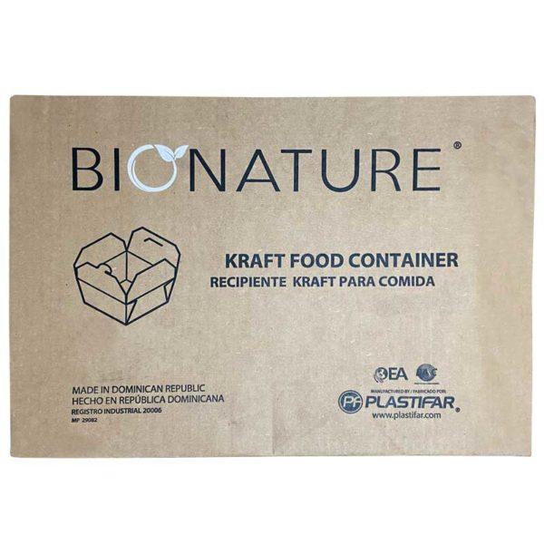 Envase para Llevar #1 Bionature, Caja (450 uds)
