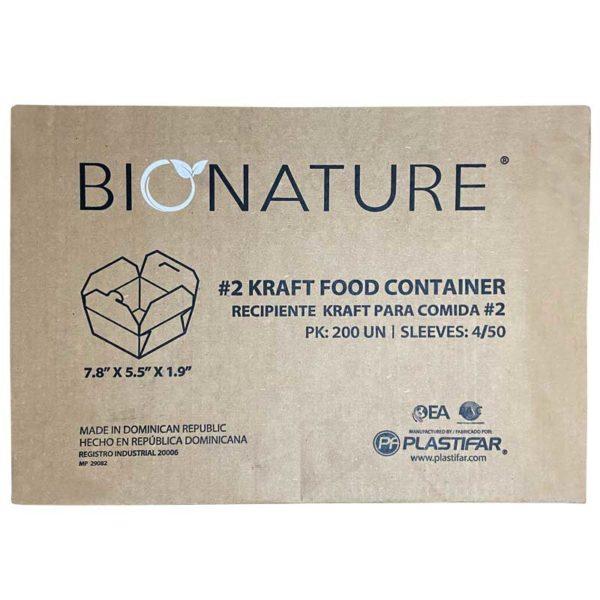 Envase para Llevar #2 Bionature, Caja (200 uds)