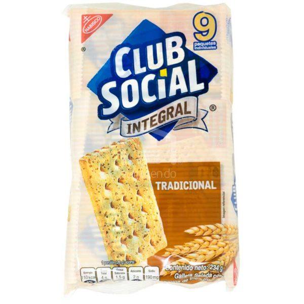 Galleta Club Social Integral, 234 g (9 uds)