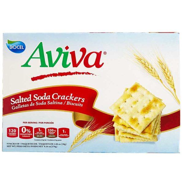 Galleta de Soda Aviva Saltina, 9 uds