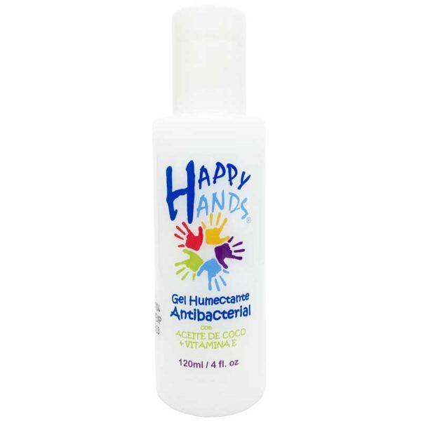Gel Humectante Antibacterial para Manos Happy Hands (4 oz)